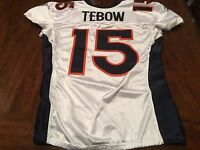 2011 Denver Broncos Tim Tebow Game Worn Used Football 2 TD Jersey Photo Matched!