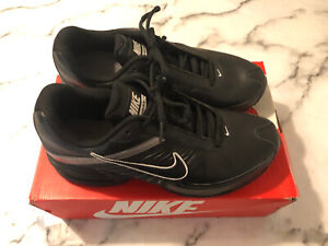 RARE & NEW NIKE AIR MAX TORCH 6 MENS ALL LEATHER BLACK TRAINERS SIZE UK 9/EUR 44