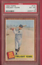 BABE RUTH SPECIAL 1962 TOPPS CARD GRADED PSA EX-MINT 6 TWILIGHT YEARS YANKEES