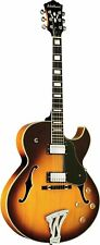 Washburn 6 String Hollow-Body Electric Guitar, Tobacco Sunburst (J3TSK-O)
