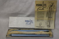 New Vintage PERMALITE Candles, Aluminum Lighter Fluid Candles, Light Blue, QTY 2