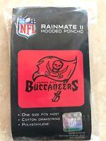 Tampa Bay Buccaneers  NFL RAINMATE II HOODED PONCHO. NEW IN PACKAGE