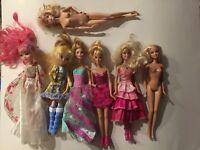Mattel Barbie Fashionista Dolls Mixed Lot of 7