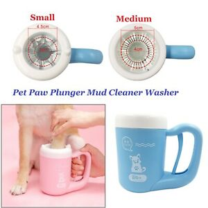 360° Soft Pet Paw Plunger Cat Dog Foot Clean Dirty Paw Brush Cleaner Washer S/M