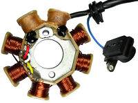 STATOR 49-150cc GY6 Many ATVs, Scooters 8 Coils 2 Pin in 3 Pin Jack + 2 wires