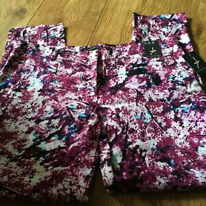 MULTI COLOURED CAPRI PANTS TROUSERS - ANKLE GRAZERS - ATMOSPHERE SIZE 12