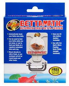 ZOO MED BETTAMATIC DAILY FEEDER AUTO FEED BETTA FISH NEW. Betta Matic Automatic