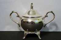 "Antique Silver Plate Oneida sugar pot - 5"" H (lid included)"
