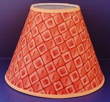 Orange Diamond Lamp Shade Handmade Lampshade