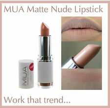 MUA MAKE UP ACADEMY MATTE LIPSTICK TOTALLY NUDE BARE BROWN LOOK NEW AND SEALED