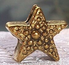 Star Gold Tone Christmas Holiday Spacer Bead for European Style Charm Bracelets