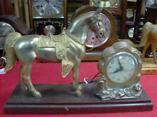 United  Horse Clock United clock Co. Electric.