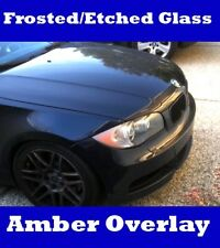 BMW 1 Series Headlight Overlay Eyelid Amber Removal Etched Frosted 128i 135i 1M
