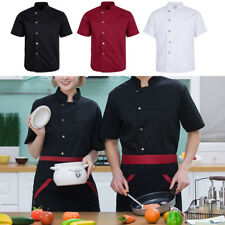 Single-breasted Summer Chef Jackets Coat Short Sleeves Uniforms Food Service