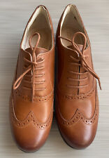CLARKS Hamble Oak Womens Casual Shoes Brown Brogues UK 7 EU 41 D Fit NEW no Box