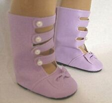 """Lavender Boots for Samantha 18"""" American Girl Doll Clothes"""