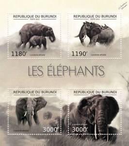 AFRICAN ELEPHANT / Africa Wild Animal Stamp Sheet #1 of 7 (2012 Burundi)