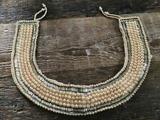 Vintage Miranda Japan Champagne Colored Faux Pearl Beaded Collar
