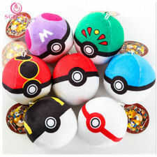 Pokemon Go Pokeball plush Master Ball Great ball Soft Stuf 7cm Keyring Key Chain
