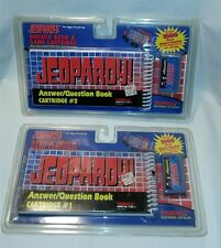 LOT 1&2 Tiger Electronics Jeopardy Handheld Game Cartridge Answer/Question Book