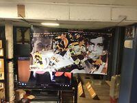 HUGE!! 46x27 BOBBY ORR Vinyl Banner POSTER Boston Bruins goon Wayne Gretzky ART