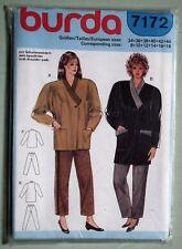 Vintage BURDA Women's 1980s KIMONO JACKET TROUSER SUIT 7172 UNCUT S M L sizes