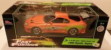 FAST AND FURIOUS 1:18 SCALE TOYOTA SUPRA 1995 BOXED AND RARE. PAUL WALKER