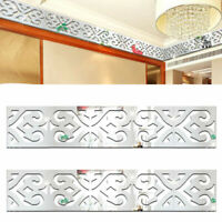 10pcs Geometric Baseboard Mirror Wall Stickers 3D Acrylic DIY Home Mural Decals