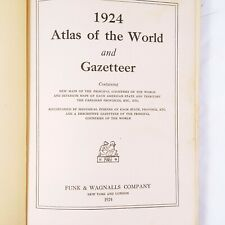 1924 Atlas Of The World And Gazetteer Funk And Wagnalls Vintage Antiques