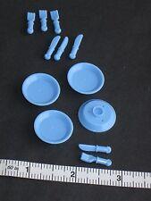 LEGO 4x Plate Fork Knife Dish Dinner Silverware Food Minifigure Friend Accessory