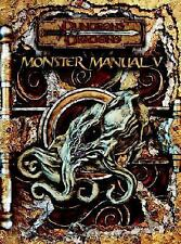 D&D Monster Manual V 5 Dungeons & Dragons 3.0/ 3.5 Edition WOTC