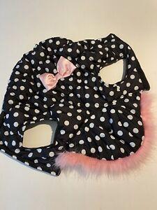 SIMPLY DOG Black W/ White Polka Dot Vest  Size:  M