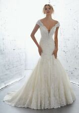 NEW WEDDING GOWN BY ANGELINA FACCENDA COUTURE MORI LEE STYLE 1701 SIZE 4