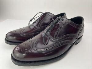 Vintage Florsheim Wingtips Leather Dress Oxford Shoes 30300 Size 12 Burgundy