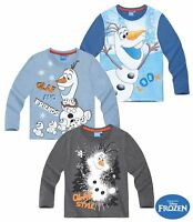 Disney Frozen Die Eiskönigin Olaf T-Shirt Pull Maillot Manches Longues Shorty