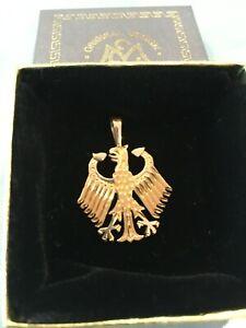 GERMAN EAGLE PENDANT 14 KT GOLD (LARGE)