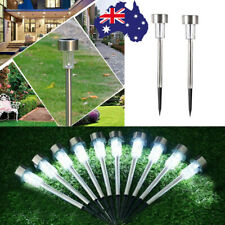 10X LED Solar Garden Buried Landscape Path Lawn Lights Yard Lamp Stainless Steel