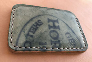 Handmade Minimalist Black Reverse Horween Shell Cordovan Cardholder Wallet