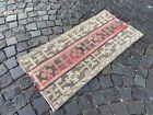 Carpet, Handmade rug, Turkish area rug, Vintage wool rug   1,8 x 3,9 ft