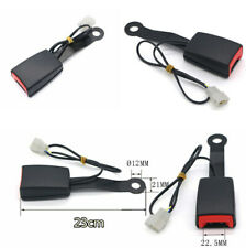22mm Width 23cm Car Safety Seat Belt Latch Buckle Plug Adapter with Alarm Wire
