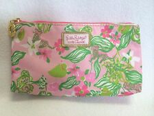 Lilly Pulitzer For Estee Lauder Pink Tiger Flower Cosmetic Bag Pouch Promo