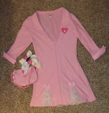 Elegant Moments Candy Striper Pink White Costume Dress Purse Hair Bows Large