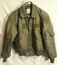 Mens Valley Apparel Bomber Jacket Green Size M Flyer's Cold Weather Quilted P/45