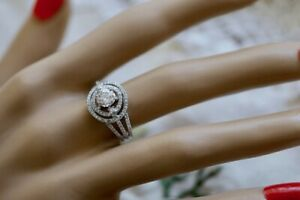 Antique Jewellery Gold Ring GIA Natural Diamonds Vintage Art Deco Jewelry N1/2