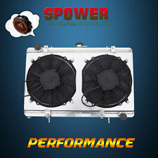 52MM Aluminum Radiator + Fan Shroud For NISSAN S13 SILVIA SR20DET MT 1989-1994