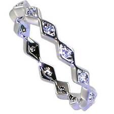 Toe Rings_Sz-3_925 Sterling Silver-Nf Brilliant Geometric Eternity Cz Band