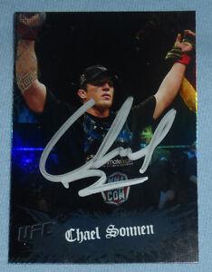 Chael Sonnen Signed UFC 2010 Topps Main Event Card #84 Autograph 117 148 159 136