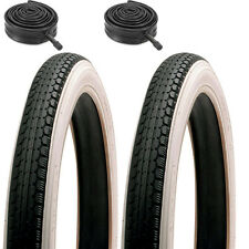 Pair of White Wall Raleigh TYRES &  TUBES 16 x 1.75 Junior Bmx Bike Tyres