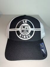 Men's Adidas Los Angeles Kings NHL Hockey Black Adidas Adjustable Cap Hat NWT