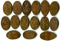 Disney World Friends Collection Of 15 Pressed Pennies - Many Retired Coins